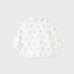 Риза Mayoral в бяло за бебе момче