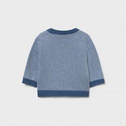 Жакардов пуловер Mayoral в светло синьо