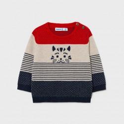 Разноцветен пуловер Mayoral с коте