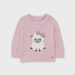 Топъл розов пуловер Mayoral
