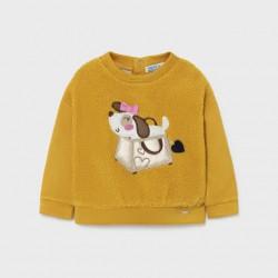 Пуловер Mayoral в цвят горчица за момиче