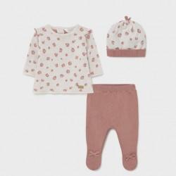 Сет Mayoral в комбинация от цвят сьомга и бежово за бебе момиче