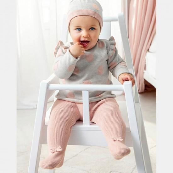 Сет Mayoral в розово и сиво за бебе момиче