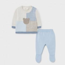 Сет Mayoral от две части в синьо за бебе момче