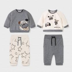 Сет Mayoral от два комплекта в сиво и бяло за бебе момче
