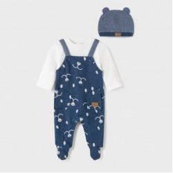 Сет Mayoral от две части в сиво и тъмно синьо за бебе момче