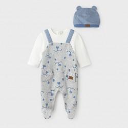 Сет Mayoral от две части в сиво и синьо за бебе момче