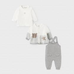 Сет Mayoral от три части в сиво за бебе момче