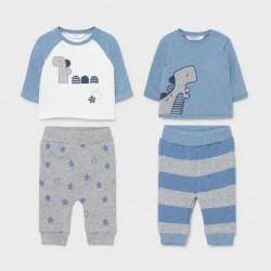 Сет Mayoral от два комплекта в сиво и синьо за бебе момче