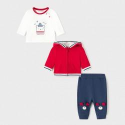 Сет Mayoral от три части в синьо и червено за бебе момче