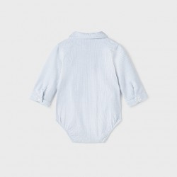 Боди - риза Mayoral в бяло-синьо райе