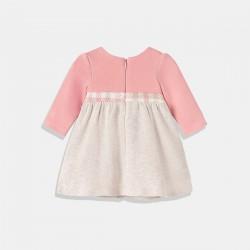 Комплект рокля Mayoral в розово и бежово и диадема