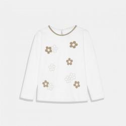 Бяла блуза Mayoral за момиче с цветя