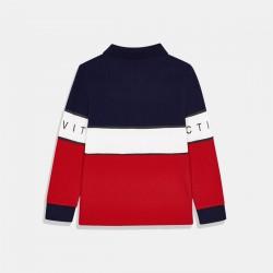 Трицветна блуза Mayoral синьо/бяло/червено