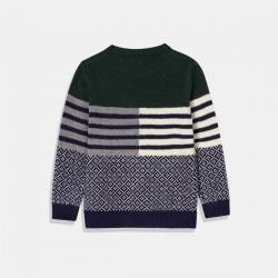Пуловер Mayoral в зелено и синьо