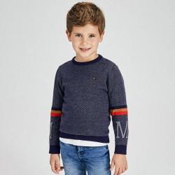 Пуловер Mayoral в сиво и синьо