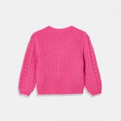 Розов пуловер с диадема Mayoral