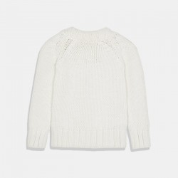 Пуловер Mayoral за момиче в бяло