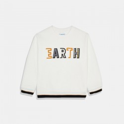 "Пуловер Mayoral  ""Earth""  в бяло"