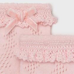Чорапи Mayoral в розово за бебе момиче