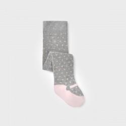 Чорапогащник Mayoral в сиво и розово за бебе момиче
