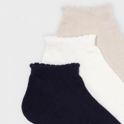Сет чорапи Mayoral бяло/бежово/синьо
