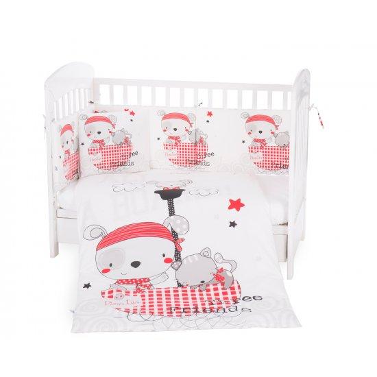 Бебешки спален комплект 6 части 60/120 Pirates
