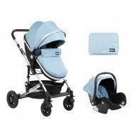 Комбинирана количка 3 в 1 с трансф.седалка Amaia Blue