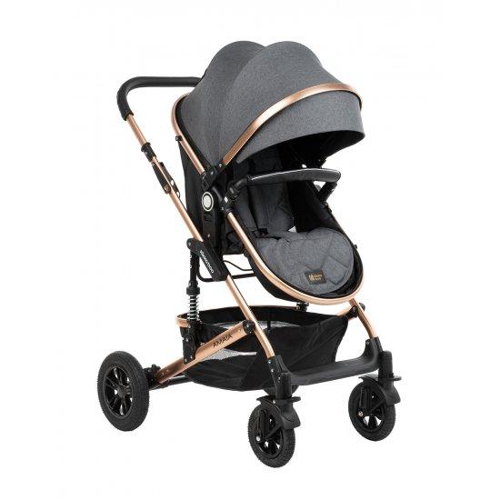 Комбинирана количка 3 в 1 с трансф.седалка Amaia Black (Dark Grey)
