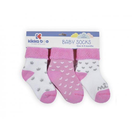 Бебешки памучни термо чорапи 2-3 год момичета