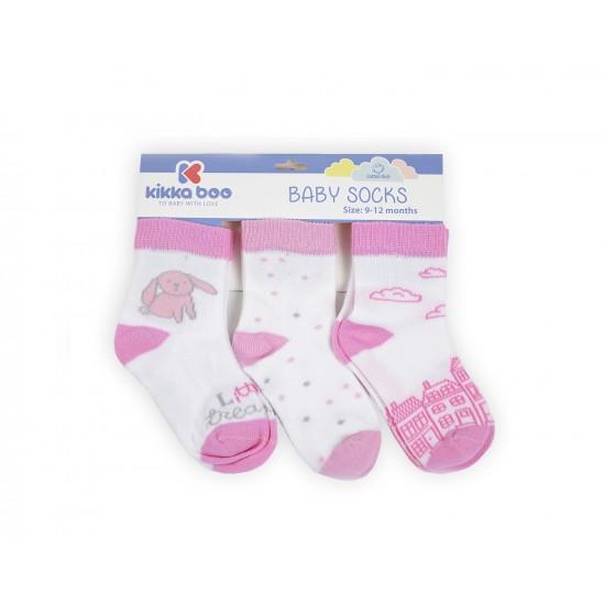 Бебешки памучни чорапи 9-12 месеца момичета