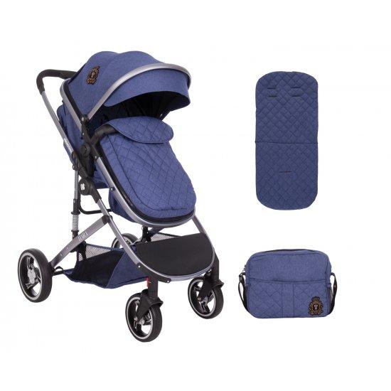 Комбинирана количка 2 в 1 Tiara Dark Blue