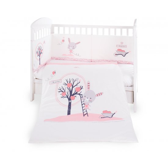Бебешки спален комплект 2 части EU style 70/140 Pink Bunny