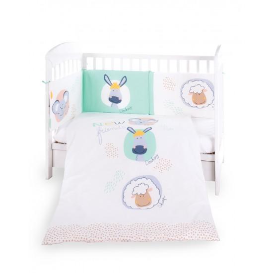 Бебешки спален комплект 2 части EU style 60/120 New Friends