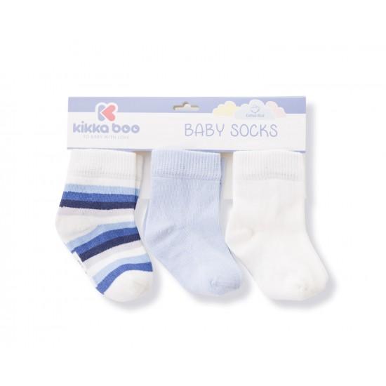 Бебешки памучни чорапи STRIPES WHITE 1-2 год.