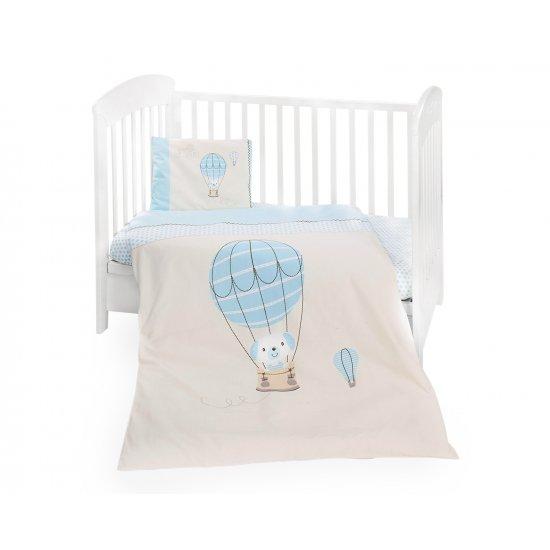 Бебешки спален комплект 5 части Puppy on Balloon