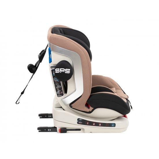 Стол за кола 0-1-2-3 (0-36 кг) 4 Strong ISOFIX Beige 2020
