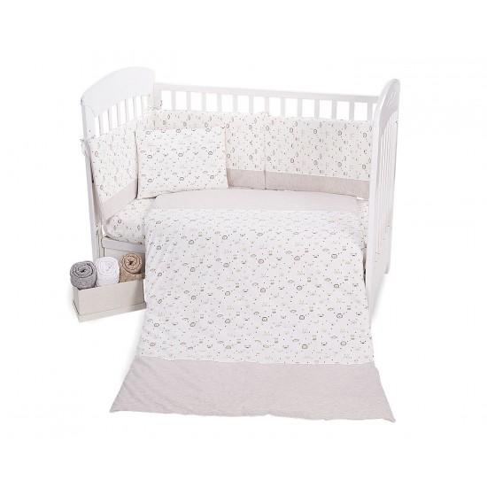 Бебешки спален комплект трико 5 части Monkey Beige 70/140