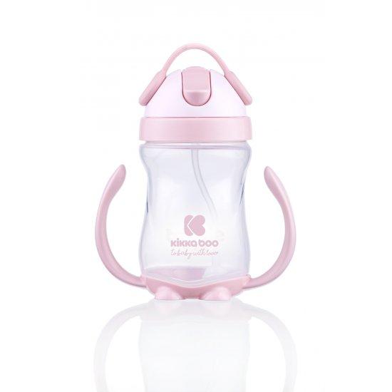 Чаша неразливаща със сламка 300мл. Pink
