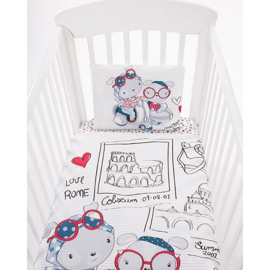 Бебешки спален комплект 3 части Love Rome
