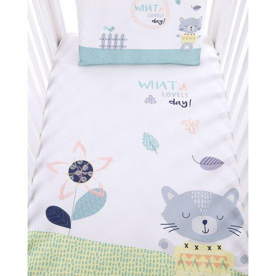 Бебешки спален комплект 5 части Cat Lovely Day
