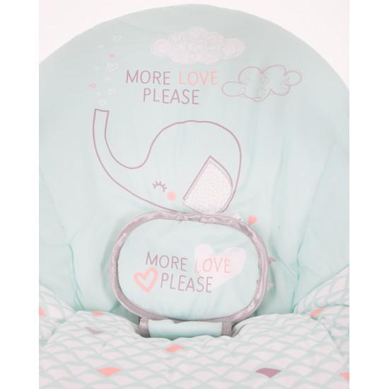 Бебешка люлка Felice Mint Elephant