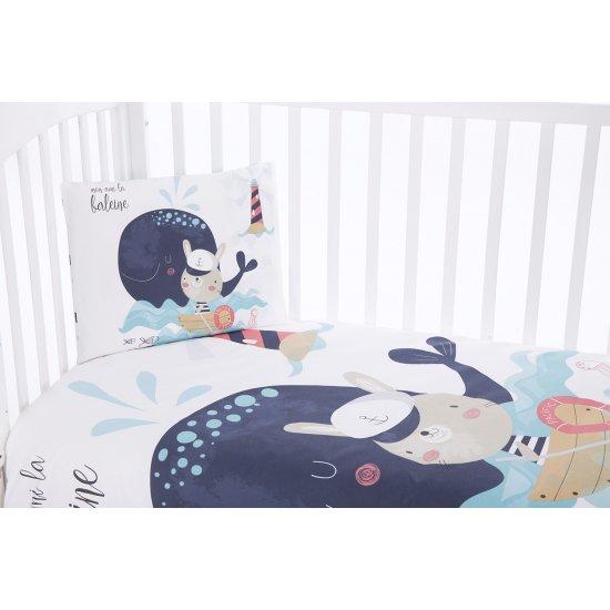Бебешки спален комплект 5 части Happy Sailor