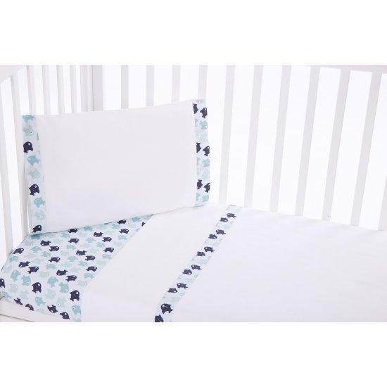 Бебешки спален комплект 3 части EU style 60/120 Happy Sailor