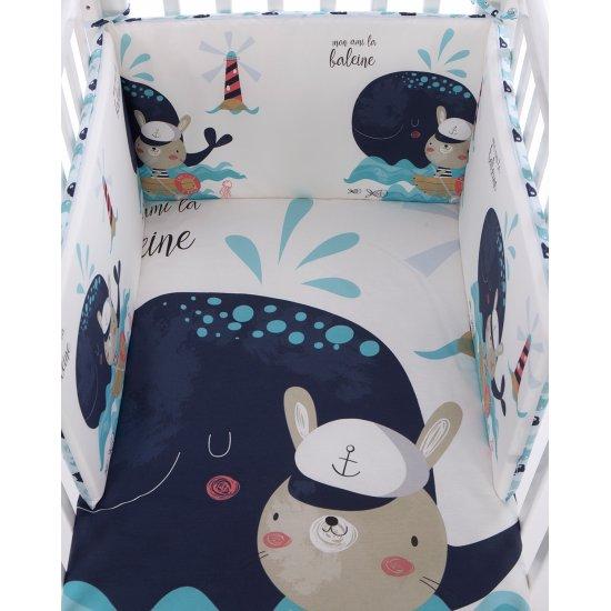 Бебешки спален комплект 2 части EU style 60/120 Happy Sailor