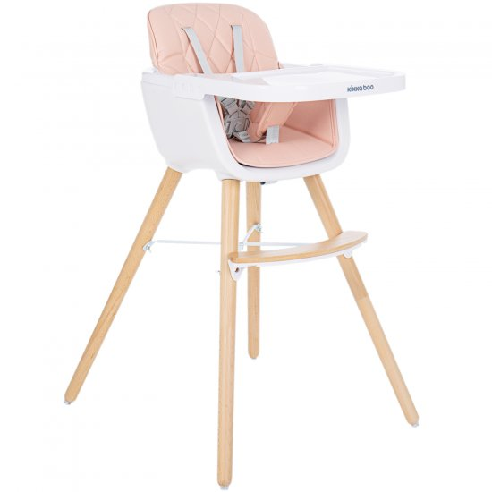 Дървен стол за хранене Woody Pink