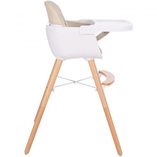 Дървен стол за хранене Woody Beige