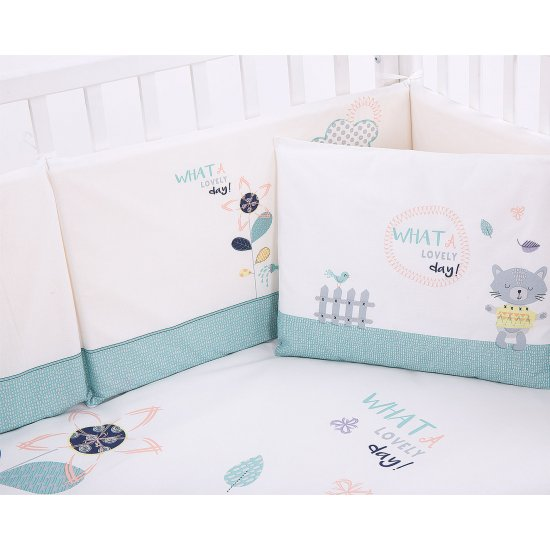 Бебешки спален комплект 6 части 70/140 Cat Lovely Day