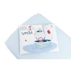 Бебешки спален комплект чаршаф+калъфка Nautic 60/120/15