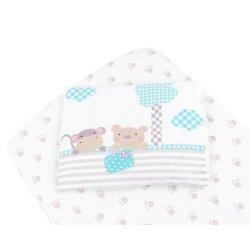 Бебешки спален комплект чаршаф+калъфка Fantasia 60/120/15